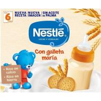 Papilla líquida con galleta NESTLÉ, pack 2x250 ml