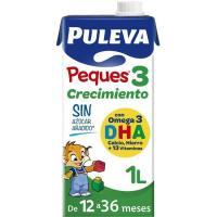 Leche de crecimiento PULEVA Peques 3, brik 1 litro
