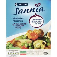 Menestra de verduras EROSKI Sannia, bandeja 300 g