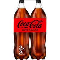 Refresco de cola sin azúcar COCA COLA Zero, pack 2x2 litros