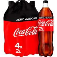 Refresco de cola COCA COLA Zero, pack 4x2 litros