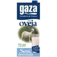 Leche semidesnatada de oveja GAZA, brik 1 litro