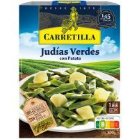 Judías verdes CARRETILLA, bandeja 240 g