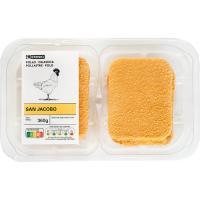 San jacobo de pollo EROSKI , 4 unid., bandeja 360 g