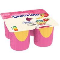 Danonino Maxi de fresa-plátano DANONE, pack 4x100 g
