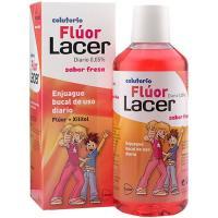 Colutorio diario de fresa LACER, botella 500 ml
