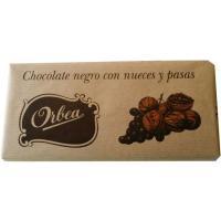 Chocolate negro con nueces-pasas ORBEA, tableta 125 g