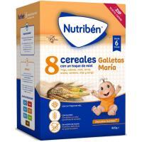 8 Cereales con miel-galleta María NUTRIBEN, caja 600 g