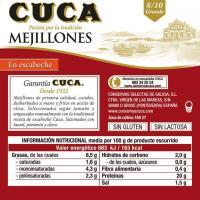 Mejillón en escabeche 8/10 piezas CUCA, lata 115 g