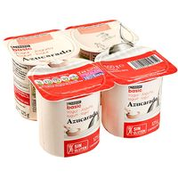 Yogur natural azucarado EROSKI basic, pack 4x125 g