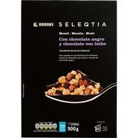 Cereales con chocolate Eroski SELEQTIA, caja 500 g