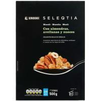 Muesli con nueces Eroski SELEQTIA, caja 500 g