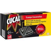 Trampa para cucarachas CUCAL, caja 6 unid.